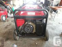 I have a Honda 6500 generator in excellent condition.