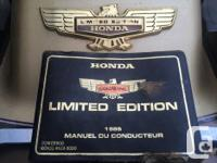 Make Honda Model Goldwing Year 1985 kms 106836 Honda