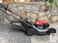 Almost new, barely used Honda Commercial mower. Bought