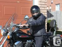 HONDA,Shadow, 2002 , water-cooled, leather saddle bags,