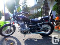 Black 2003 Honda Rebel 250 for sale. I've just changed