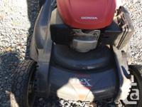 Honda mower, composite deck so will never rust, dual