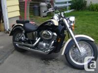 hi i have for sale a honda shadow ace 750cc bike has