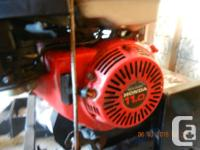 For sale in good working order a Honda snow blower