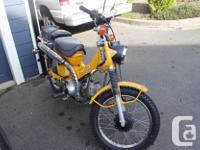 Honda Trail CT90 1978 runs great. has low and high gear