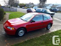 Colour Red kms 237000 1994 honda civic cx automatic no