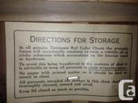 """Honderich Furniture Co. Ltd. - """"Red Seal"""" Cedar Upper"""