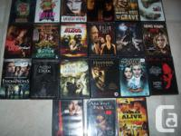 All are in excellent working condition. Each DVD is for