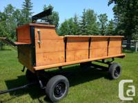 New Horse drawn wagon, custom built by me; never been
