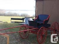 We have 2 horse drawn well built sleighs for sale $3500