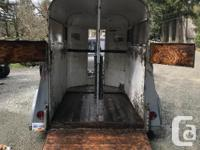 Solid 1974 Thysson 2 horse straight haul. Owned and