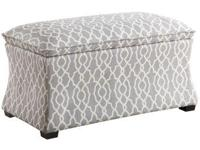 With the hourglass storage ottoman, you have both an
