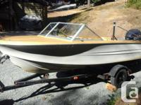 "15'6"" hourston for sale with 115 evinrude 2 gas tanks"