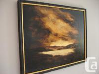 Howe Sound Sunset painted by Artist, Bodil Heppner -