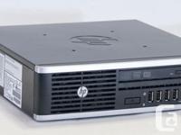 HP Elite 8000 Ultraslim Desktop CPU: Intel Core 2 Duo
