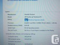2.3 GHz 2nd generation Intel Core i3-2350M Dual Core, 4