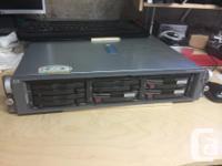 HP ProLiant DL380 G3 web server, has:. - 1 x XEON CPU,
