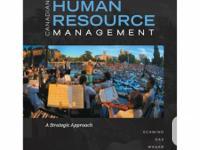 Canadian Human Resource Management a Strategic