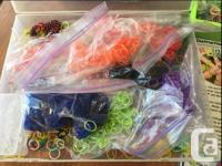 Includes 2 looms (1 has a broken peg at the end), a