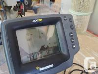 Humminbird 400TX Fish finder, Can be fixed or setup as
