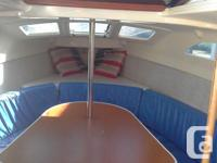Hunter 26 sailboat and also trailer in excellent
