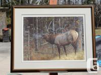 Framed limited edition print #449/950, frame size