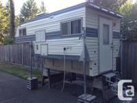 7' Six Pac camper for import truck. All appliances in