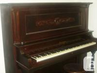 Beautiful Upright Classic Style Piano - Antique, over