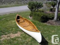 "15'6"" vintage wood canvas canoe, originally built in"
