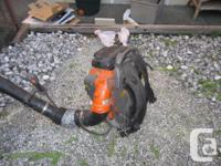 Commercial backpack blower, 65CC, X torq engine, 200