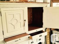 Beautifully refinished hutch. So many uses. Available