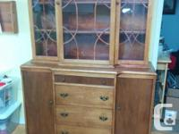 Please make an offer.Unique wooden hutch and canbinet