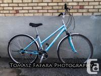 Hybrid Avenue 700 FS Bike, 18-Speed Bike, Front Shocks