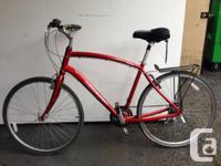 "Cherry red Hybrid Norco Yorkville Roadway bike 21"""