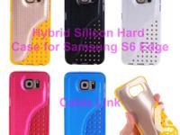 Hybrid Silicone Hard Armor back case for Samsung S6