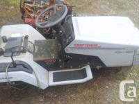 No Motor or deck but has hydrostatic drive if you