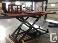 Lift King Hydraulic Motorcycle Lift. Was exchanged in