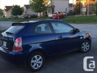 Make Hyundai Model Accent Year 2009 Colour blue kms