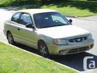 Make. Hyundai. Version. Accent. Year. 2002. Colour.