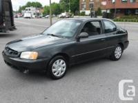2002 Hyundai Accent GS, 4cyl, Manuelle, 3portes,