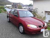 Make Hyundai Model Elantra Year 2000 Colour red kms
