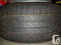 Two (2x) tires and Four (4x) rims All terrain tires;