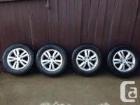 For sale 4 Hyundai OEM rims with Hankook, Optimo summer