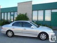 VEHICLE OPTIONS:. Hyundai Sonata 2003, Argent, 208 000