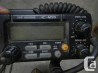 This is a used Icom VHF marine Radio materproof and