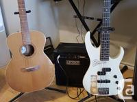 the ibanez bass is a great piece, smooth action 3