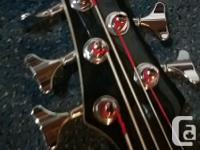 Barely used 5-String Bass guitar is up for sale due to