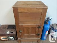 antique ice box in excellent condition, also have a