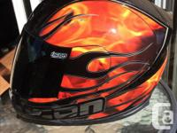 Selling Icon airframe helmet, it has a few scuffs shown