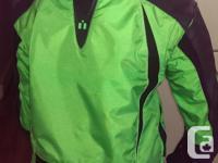 For Sale: Icon bike jacket, size medium. Green & Black